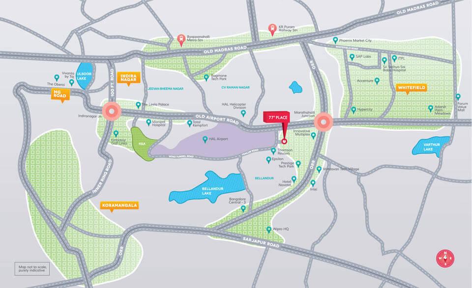 Location Map | Divyasree 77 place on